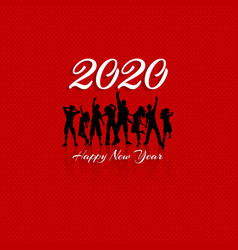 happy new year party crowd background vector image
