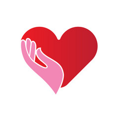 heart in hands icon vector image vector image