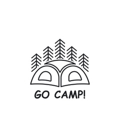 Icon or logo with tent vector