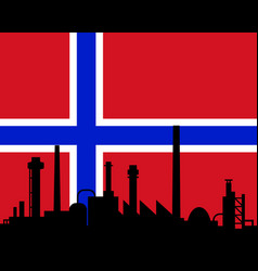 Industry and flag of norway vector