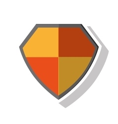 Isolated shield of security system design vector