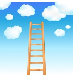 Ladder in sky vector