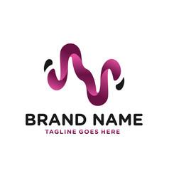 modern logo letter n vector image