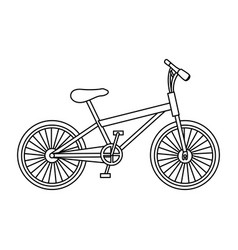 Monochrome contour of small sport bike in white vector