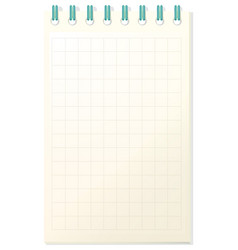 notebook template with grid paper vector image