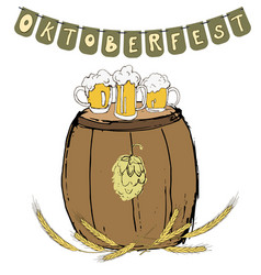 oktoberfest festival background vector image