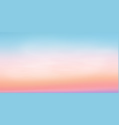 pastel colors romantic sunrise sky vector image