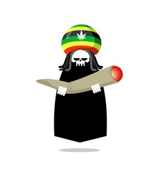 rasta death offers joint or spliff rastafarian vector image
