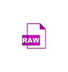 RAW Icon concept for design vector
