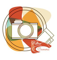 Retro camera pictures design image vector