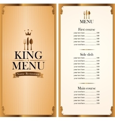 royal king menu and Price vector image