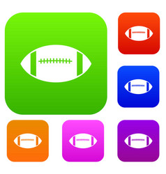 rugby ball set collection vector image