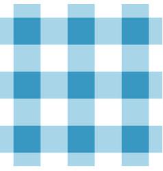 seamless white dark and bright blue tartan vector image