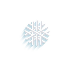 snowflake flat icon pictogram isolated vector image