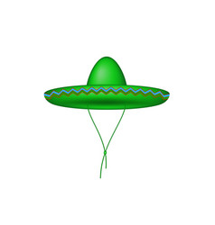 sombrero hat in green design vector image