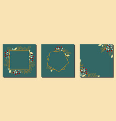 square green templates templates vector image