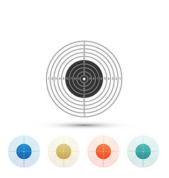 Target sport for shooting competition icon vector