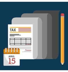 Taxes payday graphic vector image vector image