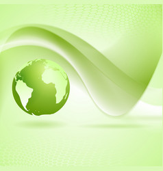 Tech wavy green background vector image