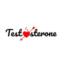 Testosterone word text typography design logo icon vector