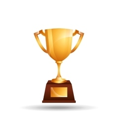 trophy gold design vector image