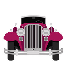 vintage car flat style vector image