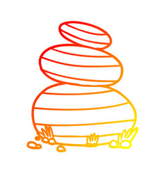 Warm gradient line drawing cartoon large stacked vector
