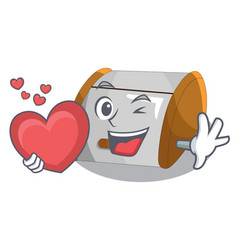With heart container food bread bin in store vector