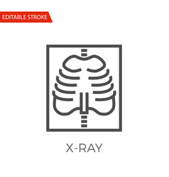 x-ray icon vector image