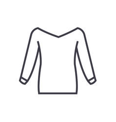 blouse line icon sign on vector image