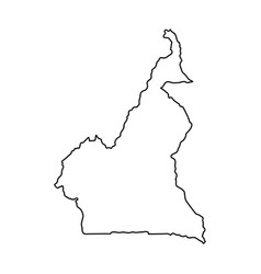 cameroon map of black contour curves on white vector image