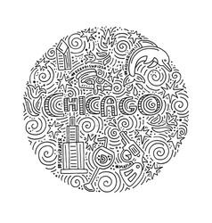 Chicago concept vector