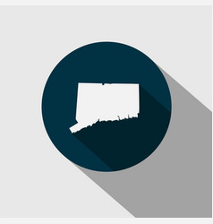 map of the us state connecticut vector image