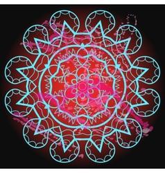 Oriental mandala motif - what is karma vector image vector image