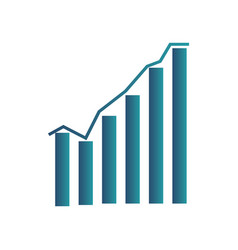statistics graph chart icon screen with vector image
