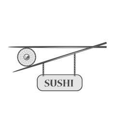 sushi bar icon vector image