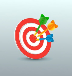 Darts with target vector image vector image