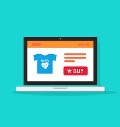 e-commerce shop online store on laptop computer vector image