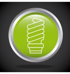 green bulb light icon vector image