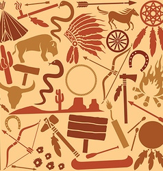 Indian icon pattern set vector image vector image