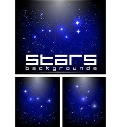 night stars vector image