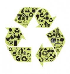 recycle diagram vector image