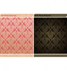 seamless decor vintage wallpaper background vector image vector image