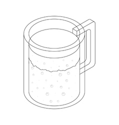 Carafe icon isometric 3d style vector image
