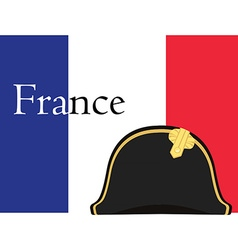 Flag and bicorne hat vector image