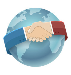 globe world map international partnership icon vector image