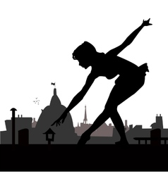 Little ballerina silhouette vector image vector image