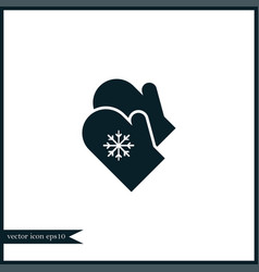 mittens icon simple vector image