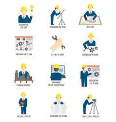 Set of engineer icons vector image