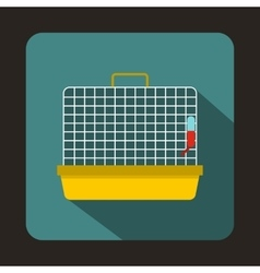 Cage for birds icon flat style vector image